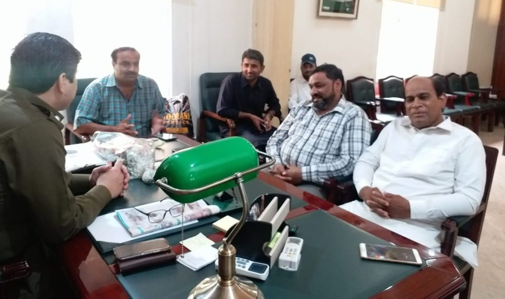 dpo okara jahnzaib nazir meeting with ittehad press club depalpur delegation