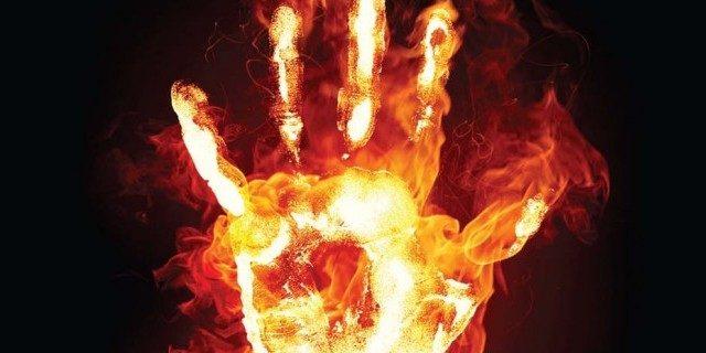 sucide by fire in okara