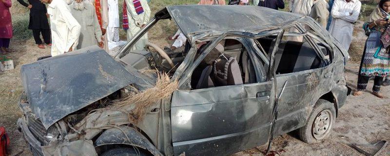 brutel car accident in okara