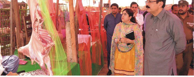 DC okara dr irshad ahmed visits ramzan bazar