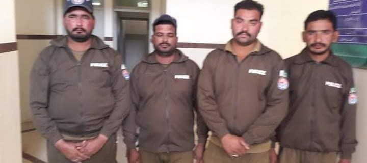 four fake police officers arrested in pakpatton