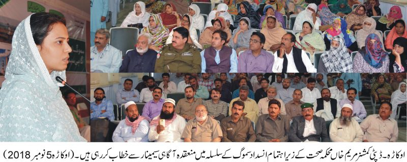 seminar organized by DC okara on smog