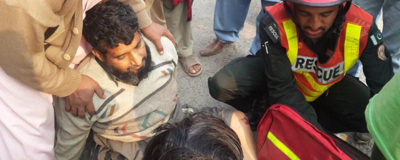 okara,sher garh accidents 7 injured 1 killed