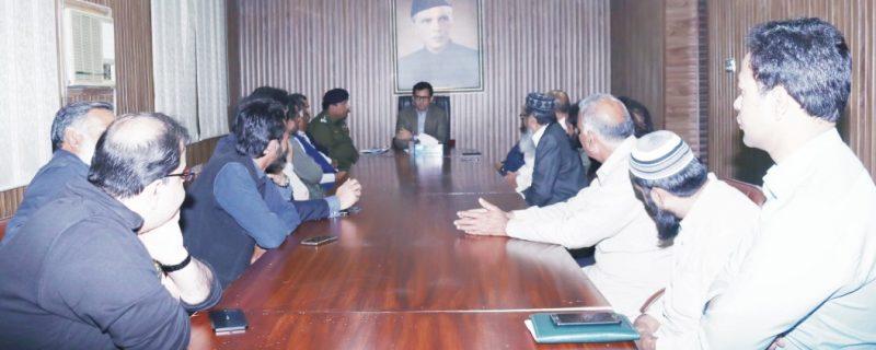 dpo okara meeting with markazi anujuman tajraan