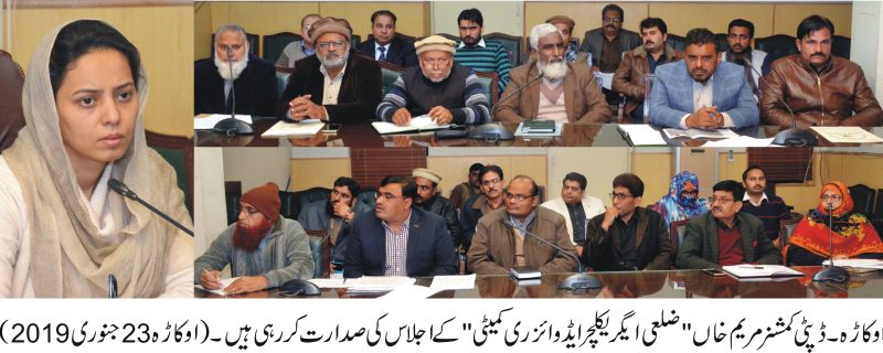 DCO Okara agricultural commettee