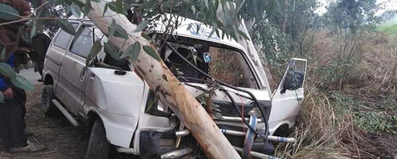 depalpur okara road per sui gas gari ka accident