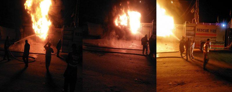 fire in deplapur tyre shop