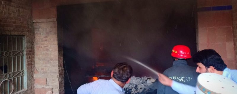 depalpur,cotten factory on fire