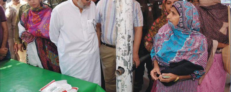 syed samsam bukhari visits ramdan bazar okara
