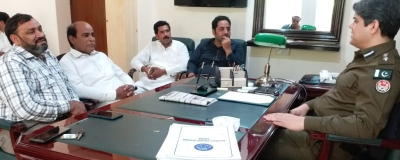 dpo okara jahnzaib nazir meeting with ittehad press club depalpur