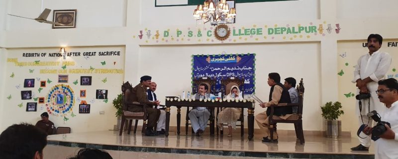 commisioner held an open forum in dps